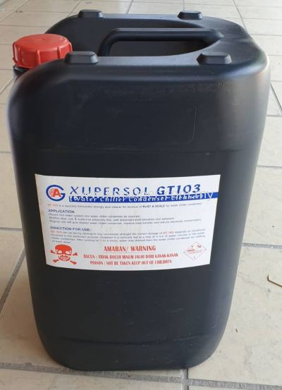 XUPERSOL GT103 CHEMICAL (WATER COOLED CONDENSOR & COOLING TOWER CLEANER)