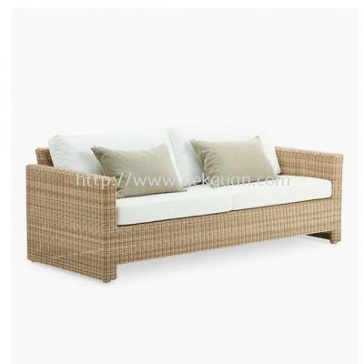 R3SC 010 - RATTAN 3 SEATER CHAIR