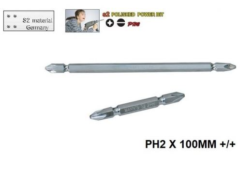 MN   PH2 X 100MM +/+ POLISHED  POWER BIT -00711O