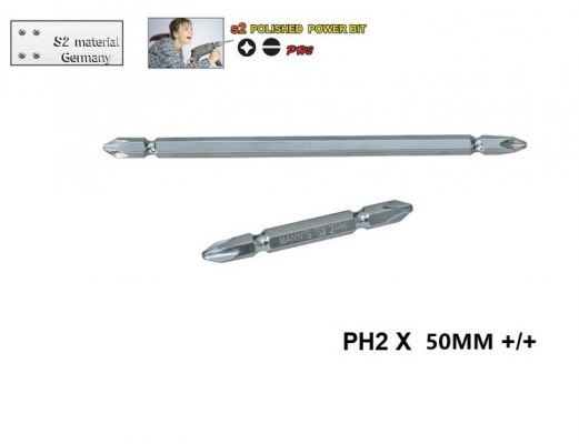 MN PH2 X 50MM  +/+  POLISHED  POWER BIT-00711L