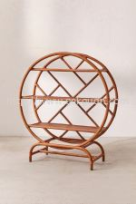 RACK 035 - RATTAN ROUND RACK WITH STAND