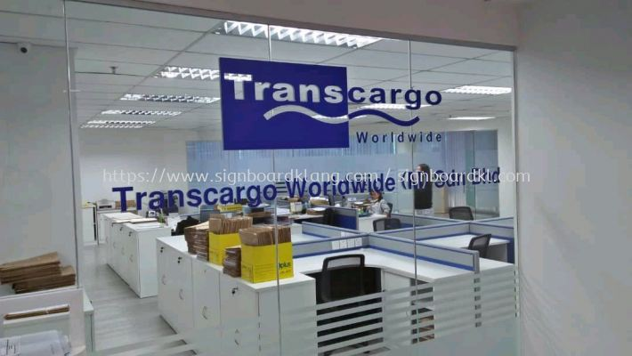 TransCargo logistics acrylic box up lettering signage at Portklang
