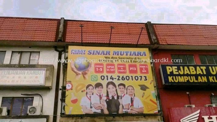 Sinar mutiara Zig zag billboard signage design at Kuala Lumpur