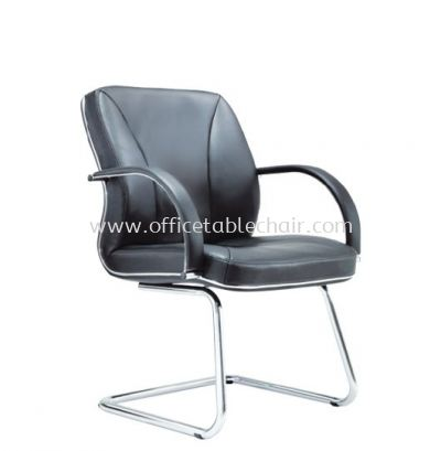 SUPREME DIRECTOR  VISITOR LEATHER CHAIR WITH CHROME TRIMMING LINE ASE 2214