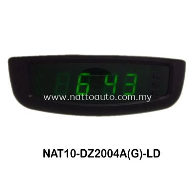DIGITAL CLOCK 2004A (BLACK COVER W GREEN WORD)