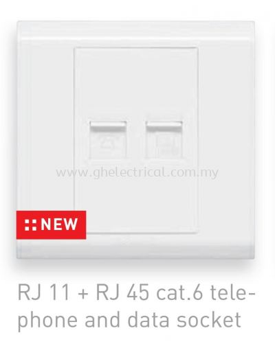 Balanko tel and cat6 socket