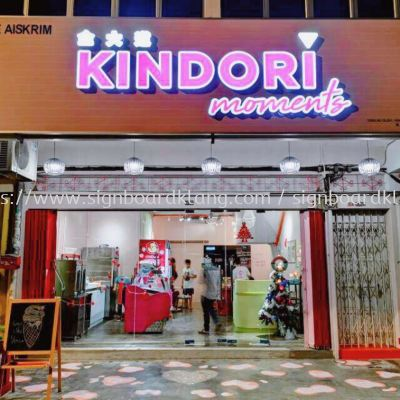 kindori I-cream 3D LED box up frontlit signage at klang lama Kuala Lumpur/ signboard design