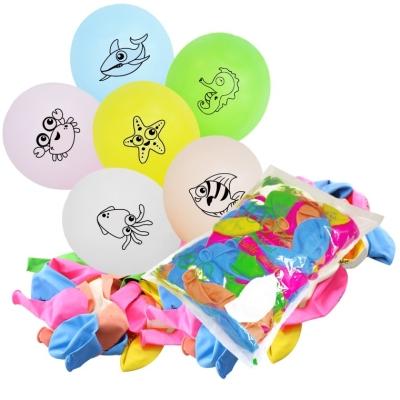 12inch Ocean 1 Side Printed Balloons 50pcs (B-SR12-OCN50)