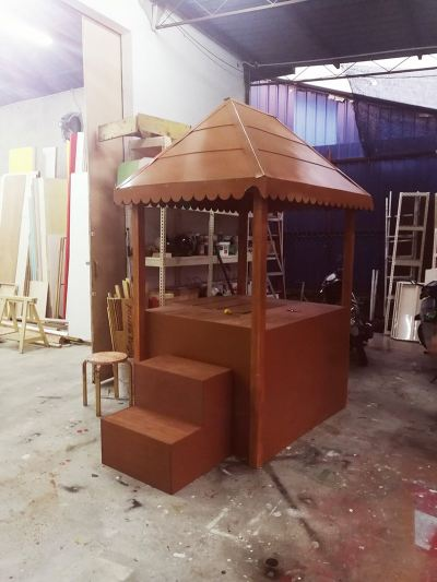 Wooden product booth