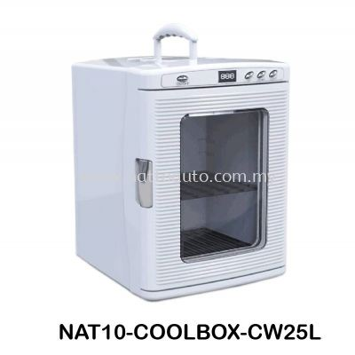COOLBOX COOLER & WARMER CW-25L Cool Box Dual Voltage Car Refrigerator DC 12V Portable Car Cool and Warm Electric Coolbox for Traveling and Camping Outdoor