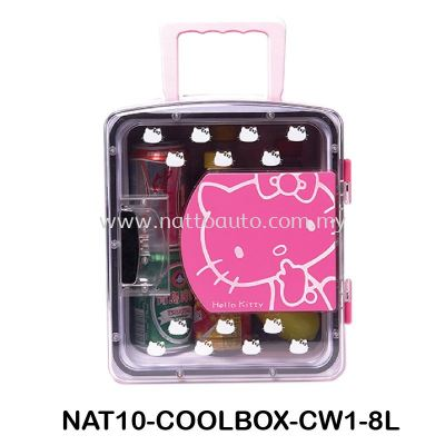 COOLBOX COOLER & WARMER CW1-8L Cool Box Dual Voltage Car Refrigerator DC 12V Portable Car Cool and Warm Electric Coolbox for Traveling and Camping Outdoor