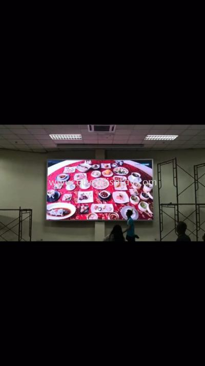 4.8m x 2.688m P3 INDOOR LED DISPLAY BOARD (FULL COLOUR)