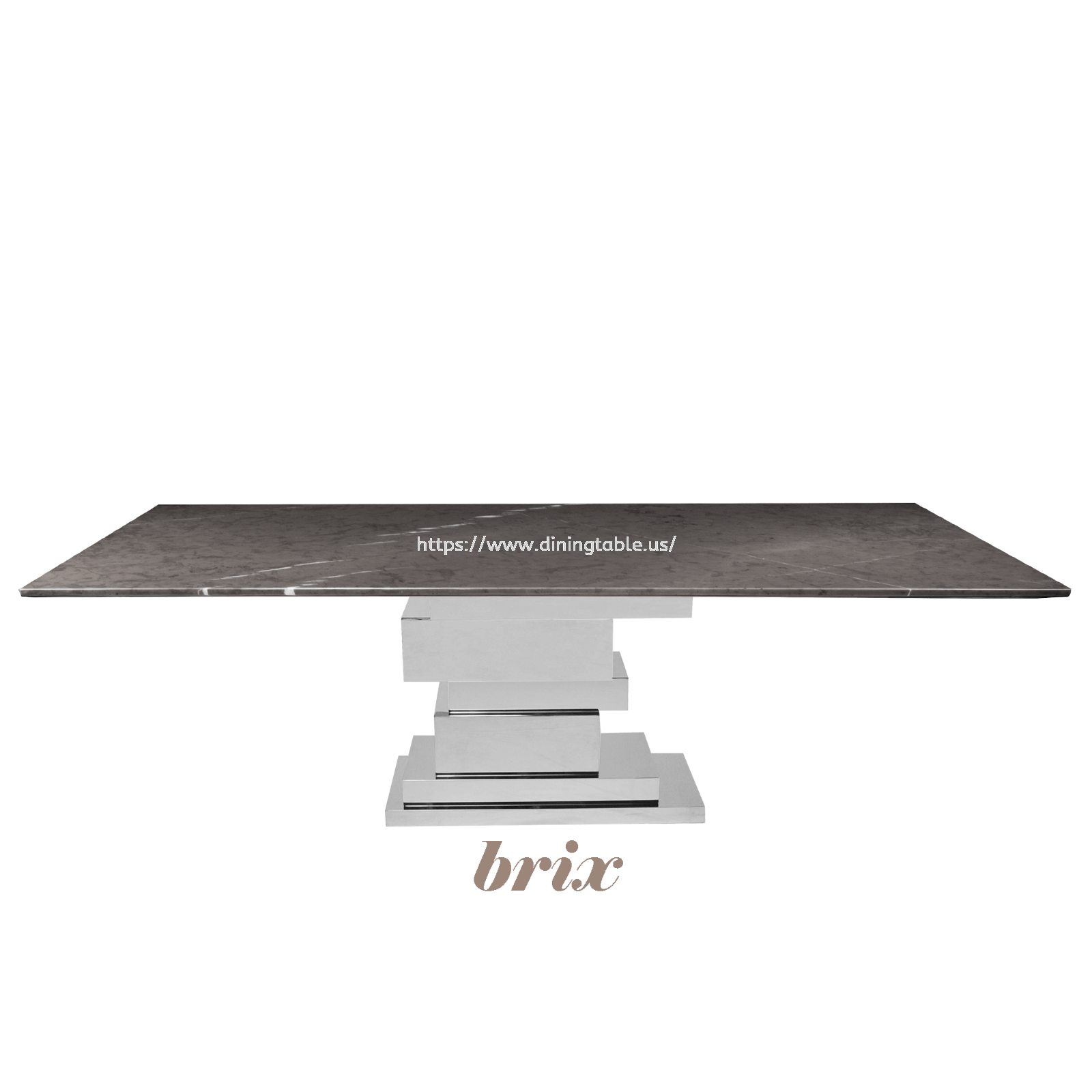 Rectangular Marble Dining Table (Pietra Grey)