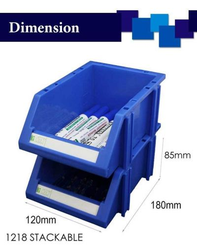 80391-1218 STACKABLE TRAY-PC(8HX12LX18D CM)