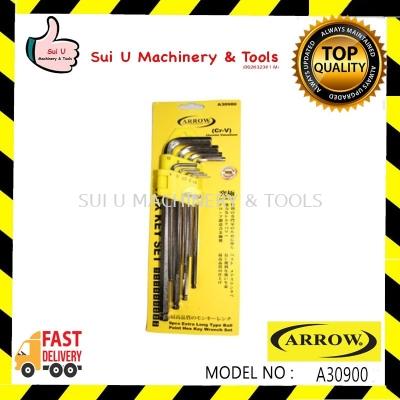 Arrow 9pcs Extra Long Ball Paint Hex Key Wrench Set