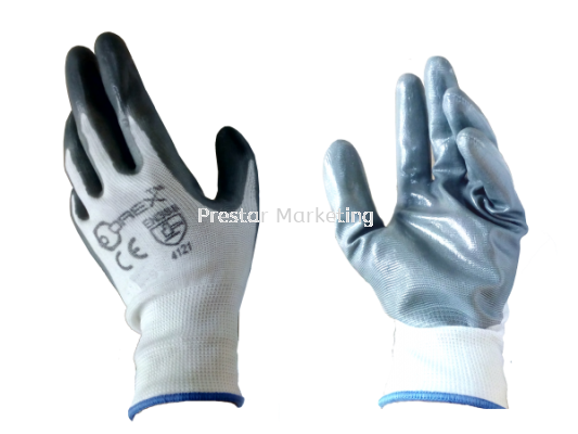 POLYESTER & NITRILE SAFETY GLOVE