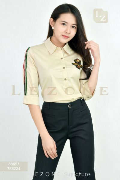 88657 FRONT BUTTON COLLAR BLOUSE