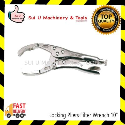 Locking Pliers Filter Wrench 10""