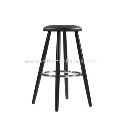 LOW BARSTOOL CHAIR C/W WOODEN BASE ST35-F