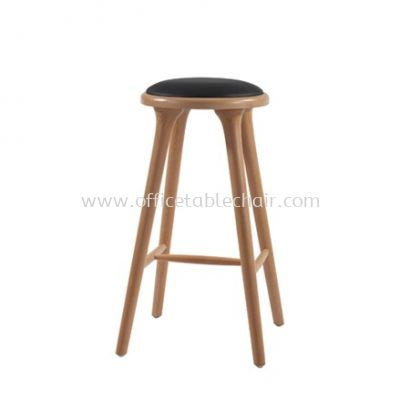 HIGH BARSTOOL CHAIR C/W WOODEN BASE ST36-F