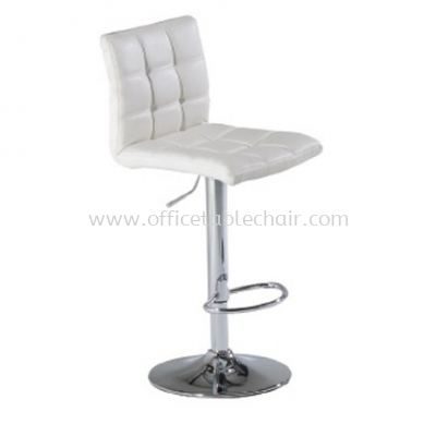 HIGH BARSTOOL CHAIR WITHBACKREST C/W ROUND CHROME METAL BASE ST25-F