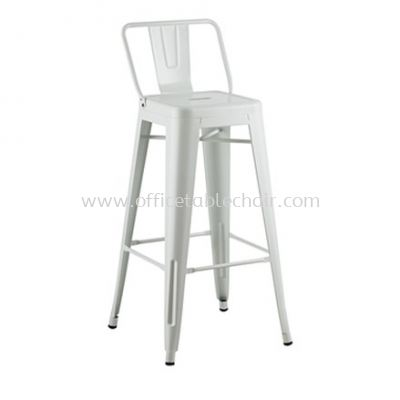 HIGH BARSTOOL CHAIR WITH BACREST C/W EPOXY METAL BASE ST26-3F