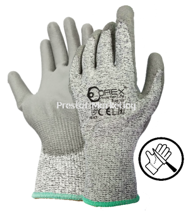 OREX - SAFETY GLOVE WITH HPPE & PU COATING