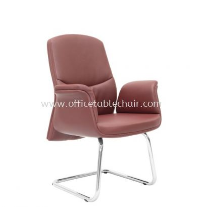 OXFORD DIRECTOR VISITOR LEATHER CHAIR C/W CHROME CANTILEVER BASE