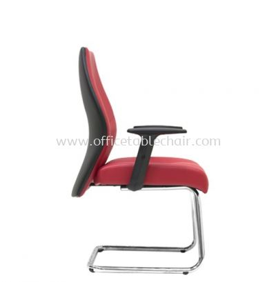 LUTON DIRECTOR VISITOR LEATHER CHAIR C/W CHROME CANTILEVER BASE