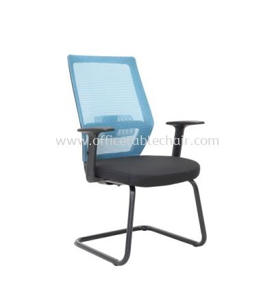 FILTON 2 VISITOR MESH BACK CHAIR C/W EPOXY BLACK CANTILEVER BASE