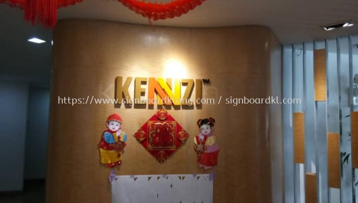 Kennzi 3D box up lettering signage at damansara Kuala Lumpur