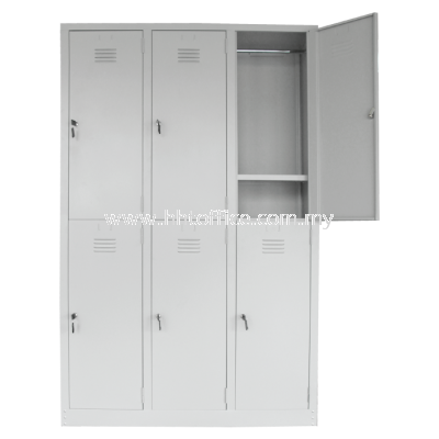 6L Compartments Steel Locker