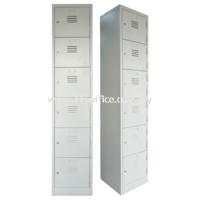 6S Compartments Steel Locker