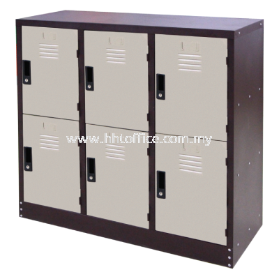 6H Compartments Steel Locker