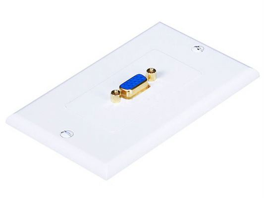 One Female VGA point Metal Wall Panel