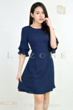 81136 BELL SLEEVE DRESS【Online Exclusive Promo 41% OFF】
