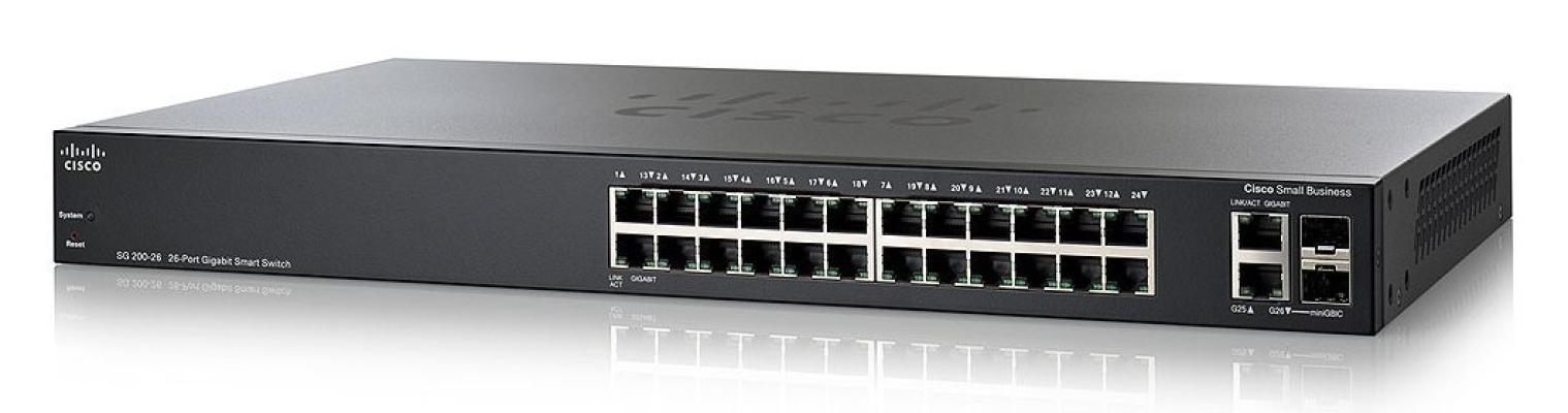 Cisco SG200-26 26-port Gigabit Smart Switch