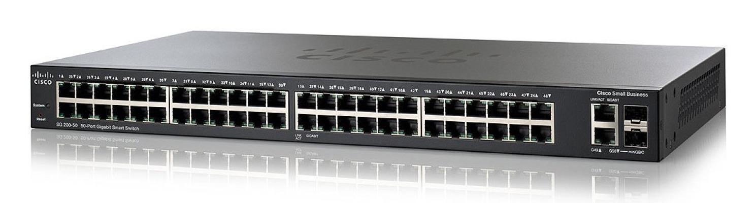 Cisco SG200-50 50-port Gigabit Smart Switch
