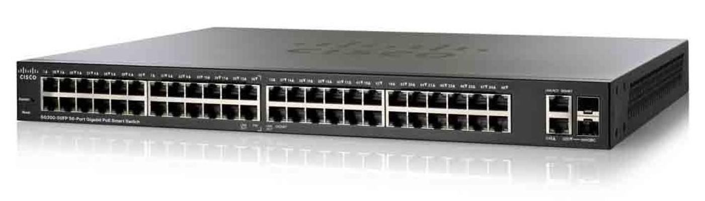 Cisco SG200-50FP 50-port Gigabit Full-PoE Smart Switch