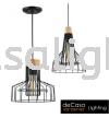 INDUSTRIAL PENDANT LIGHT BLACK FURNISHING WOOD NSB-ZF4928/1 ZF4922/1 Loft Design PENDANT LIGHT