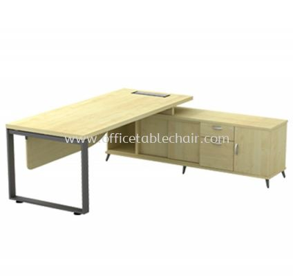 DIRECTOR TABLE METAL O-LEG C/W WOODEN MODESTY PANEL & SIDE CABINET Q-SRWE 2022 (TOP 41THK)