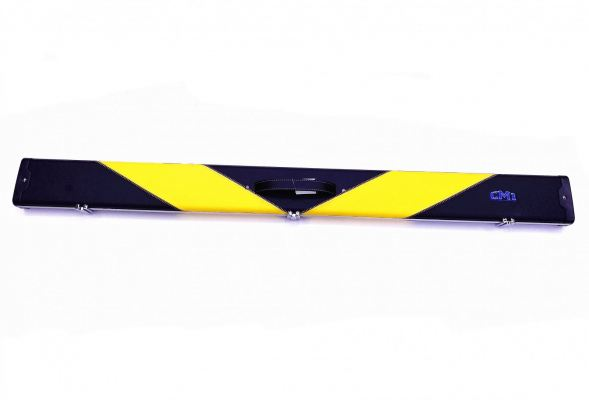 3/4 YELLOW-BLACK SNOOKER CUE CASE (2 CUES)
