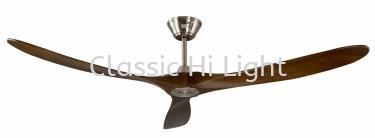 "Arvio Klara 70"" 3 Blade DC Motor Ceiling Fan : Walnut"