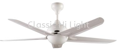 """Alpha AF 828 56"""" 5 Blade AC Motor Ceiling Fan : White"""