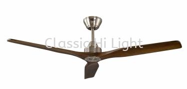 """Arvio Kysten 60"""" 3 Blade DC Motor Ceiling Fan : Walnut"""