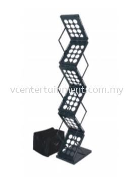 Zig Zag Brochure Stand 2 Sided - Black