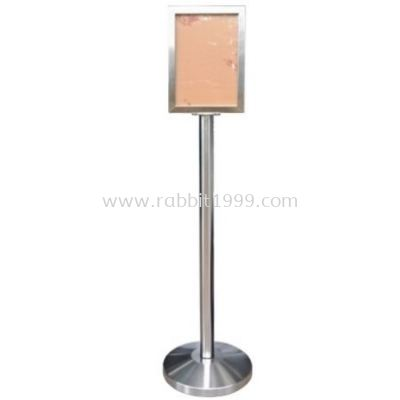 RABBIT STAINLESS STEEL A4 SIGN BOARD STAND - vertical