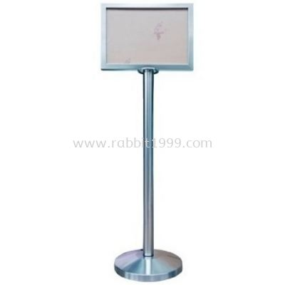RABBIT STAINLESS STEEL A4 SIGN BOARD STAND - horizontal