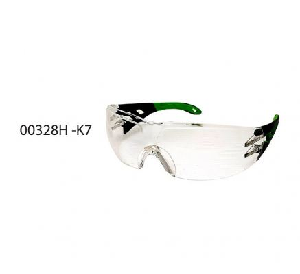 "K7  SAFETY "" GREEN""  GOGGLE-TRANS  -00328H"