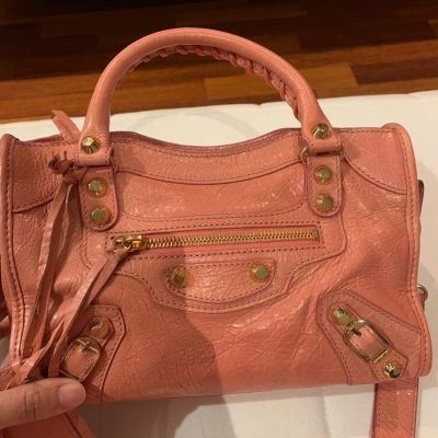 (SOLD) Balenciaga Classic Mini City in Pink with GHW